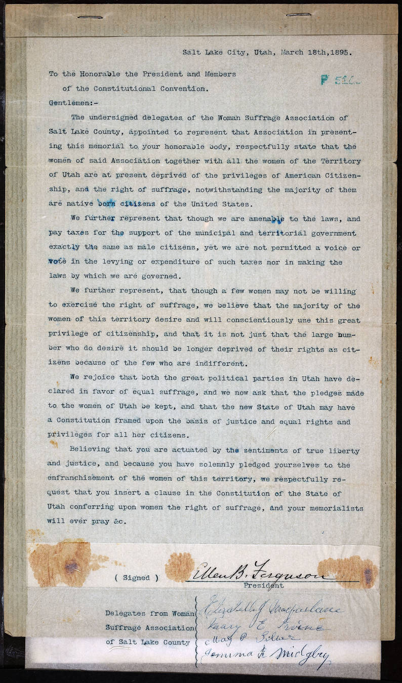 Page from Constitutional Convention records